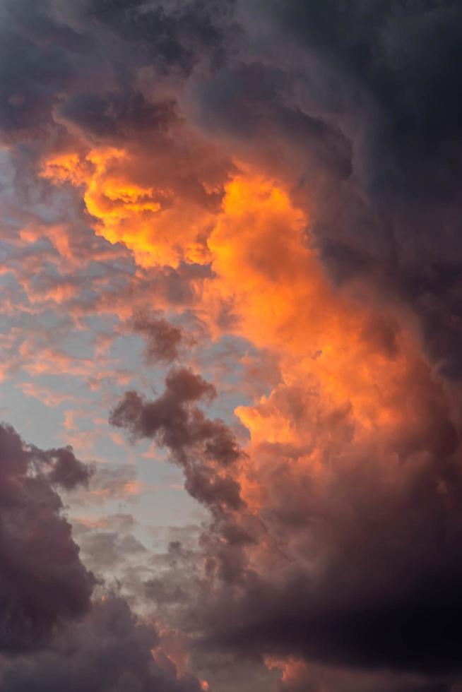 Nahaufnahme von Wolken foto