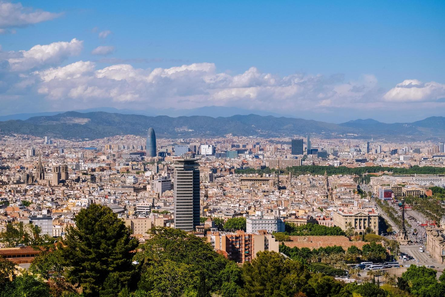 Stadtbildansicht von Barcelona foto