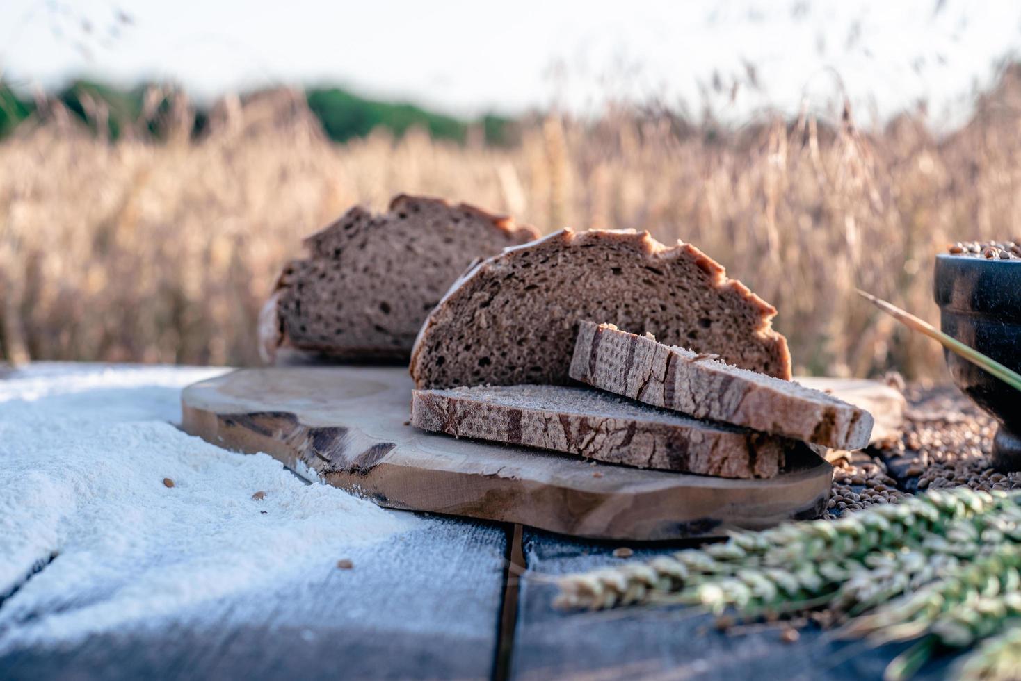 landwirtschaftliche Produkte in Maisfeld foto