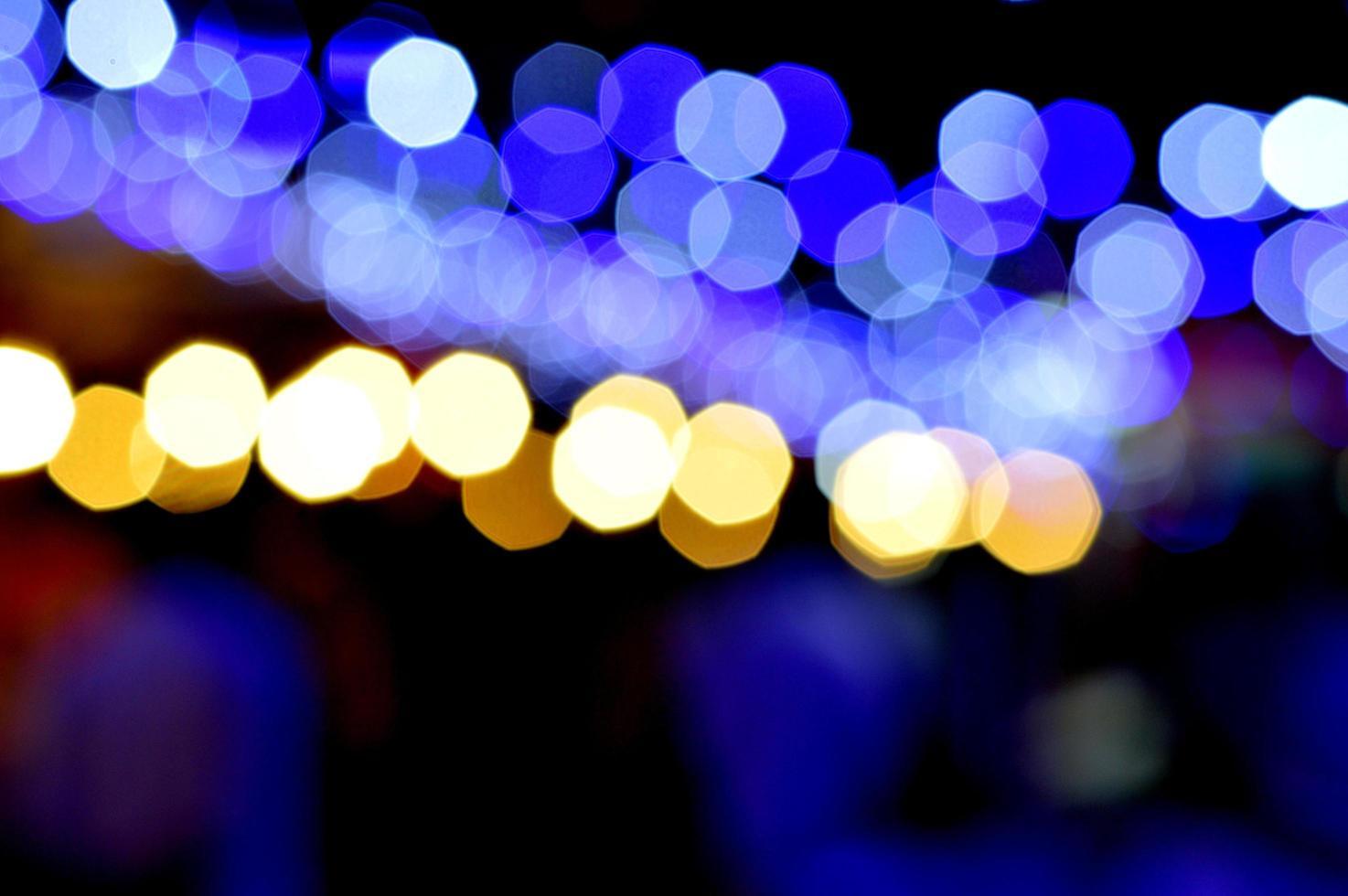 Bokeh Fotografie in der Nacht foto