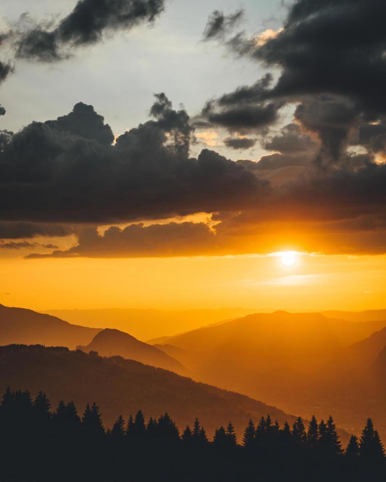 goldene Stunde Sonnenuntergang foto