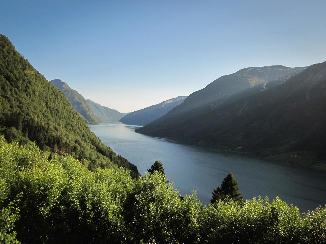 Landschaftsansicht des Sognefjords foto