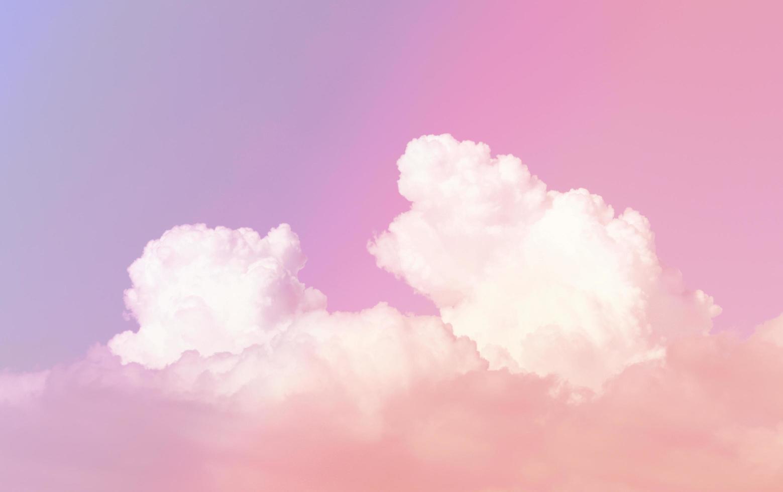 lebendiger bunter Himmel foto