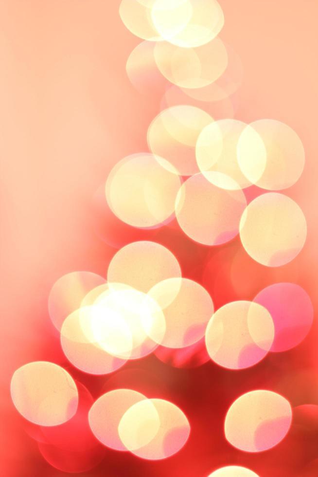 rote und gelbe Bokeh-Lichter foto