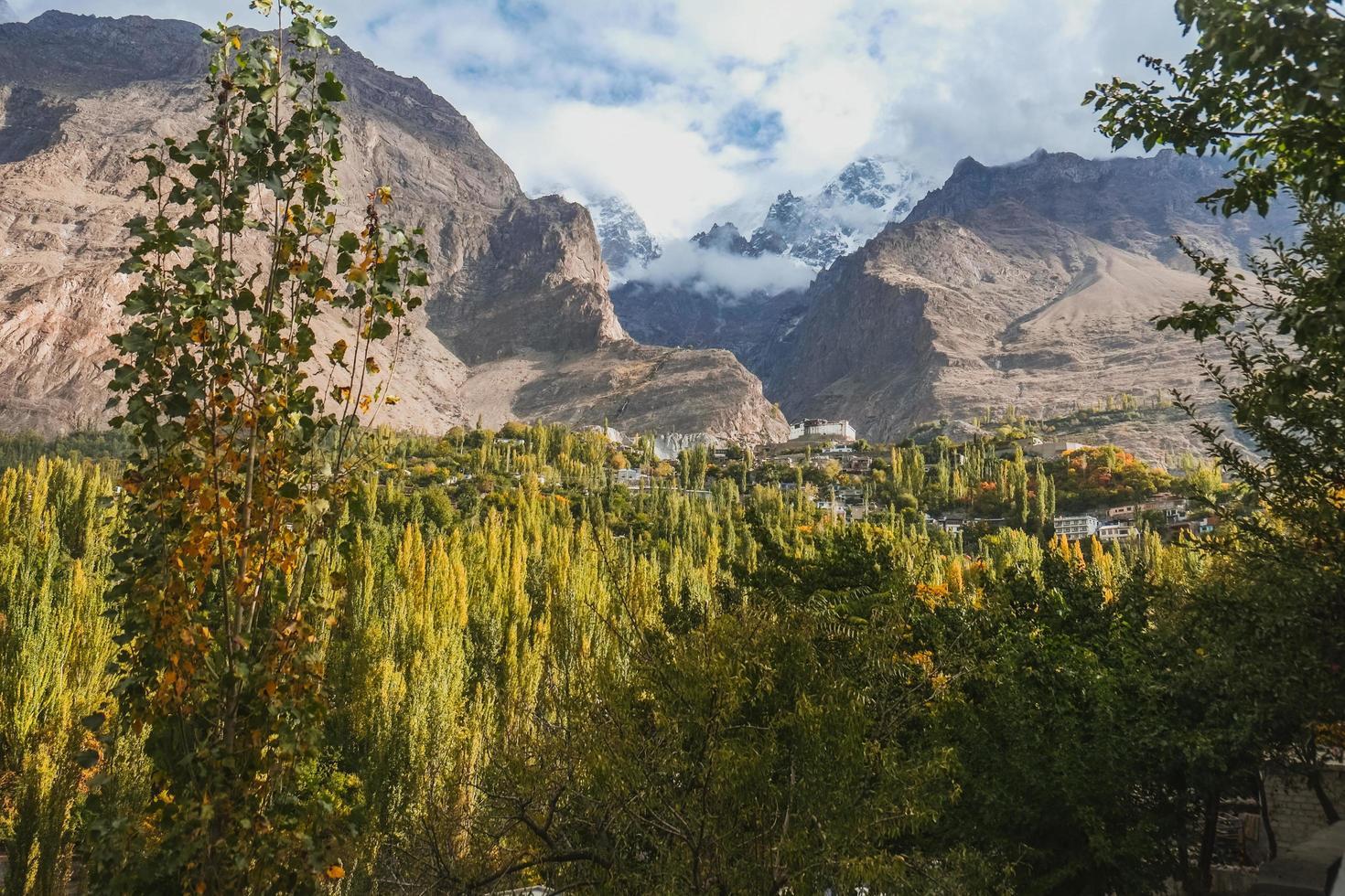 Panoramablick im Hunza-Tal foto