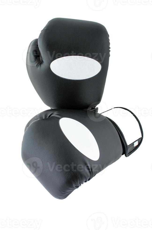 Boxhandschuhe unter dem weißen Hintergrund foto