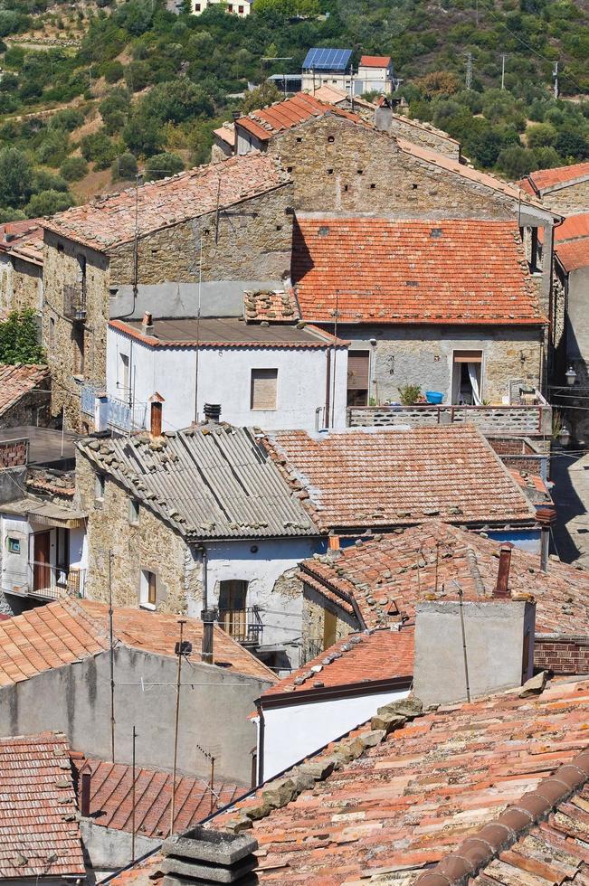 Panoramablick auf Valsinni. Basilikata. Italien. foto