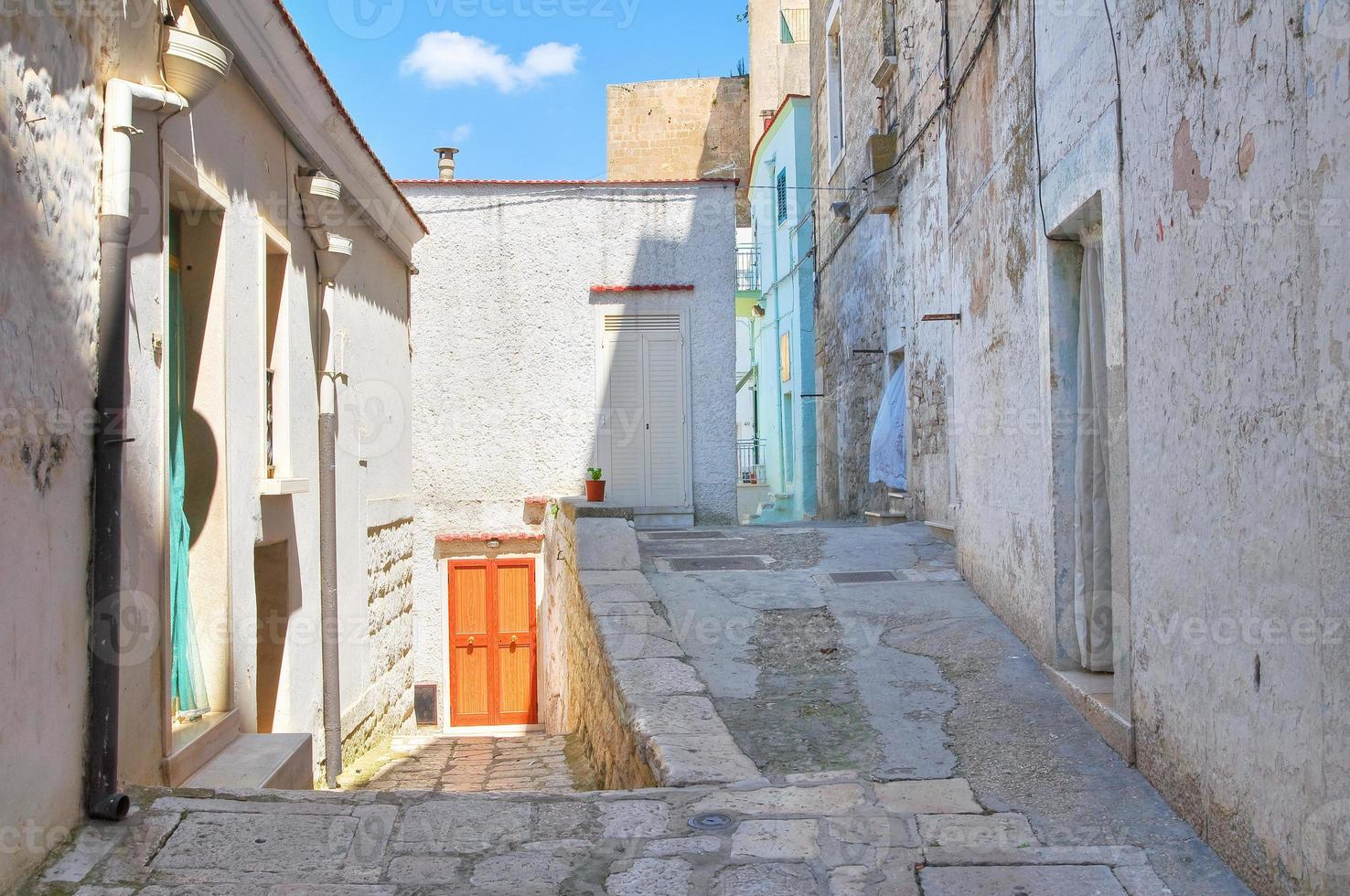 Gasse. Minervino Murge. Apulien. Italien. foto