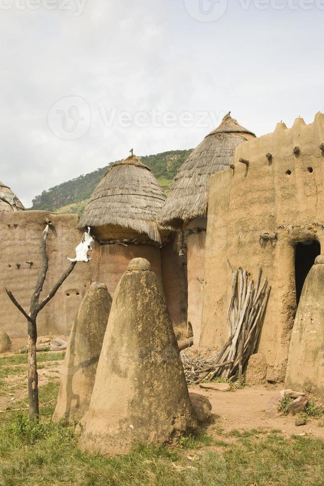 togo, afrika: dorf am koutammakou weltkulturerbe foto