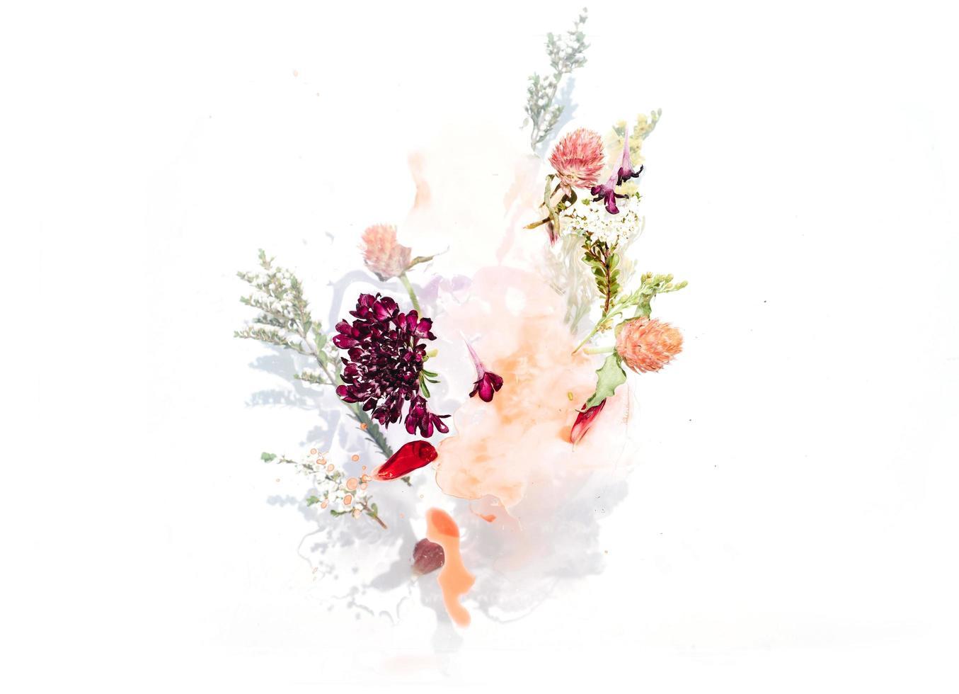 Strauß verschiedener Blumen foto