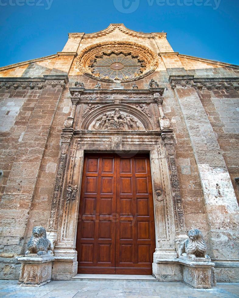 Portal der Mutterkirche von Manduria foto