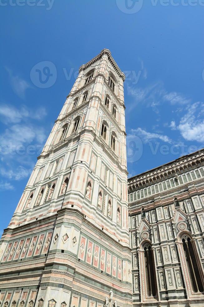 Santa Maria del Fiore Kirchturm in Florenz foto