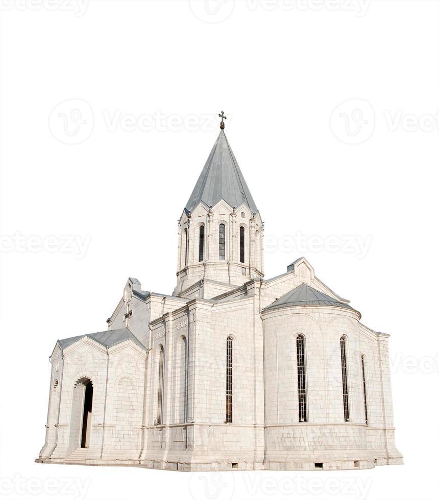 armenische Kirche, isoliert auf weiß foto