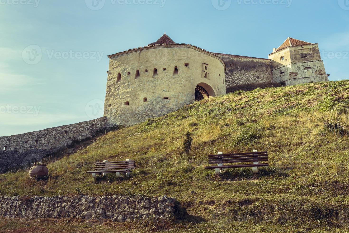 Rasnov mittelalterliche Zitadelle, Rumänien foto