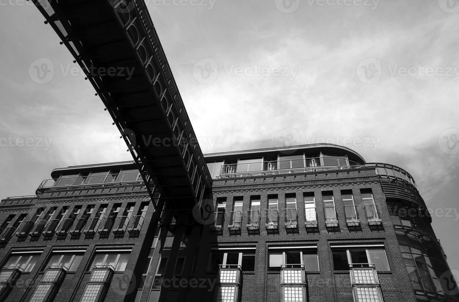 Tonfassade des Stadthauses foto