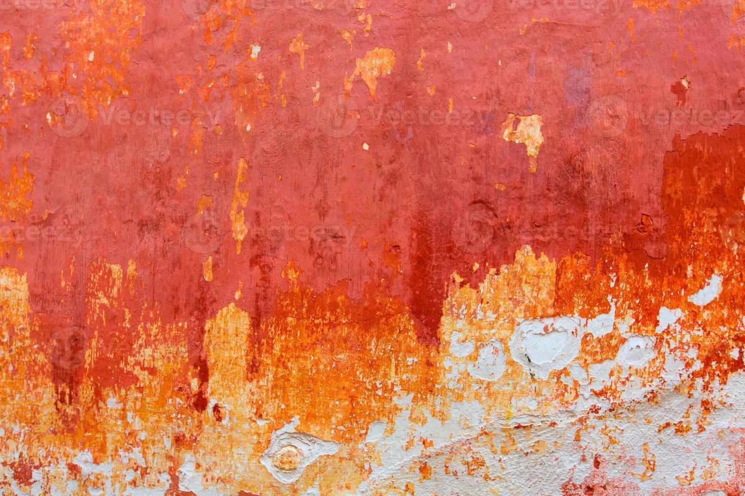 Menorca Ciutadella rote Grunge Fassade Textur foto