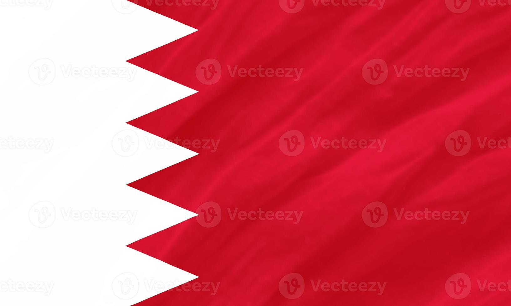 Hintergrund der Welligkeit Bahrain Flagge foto