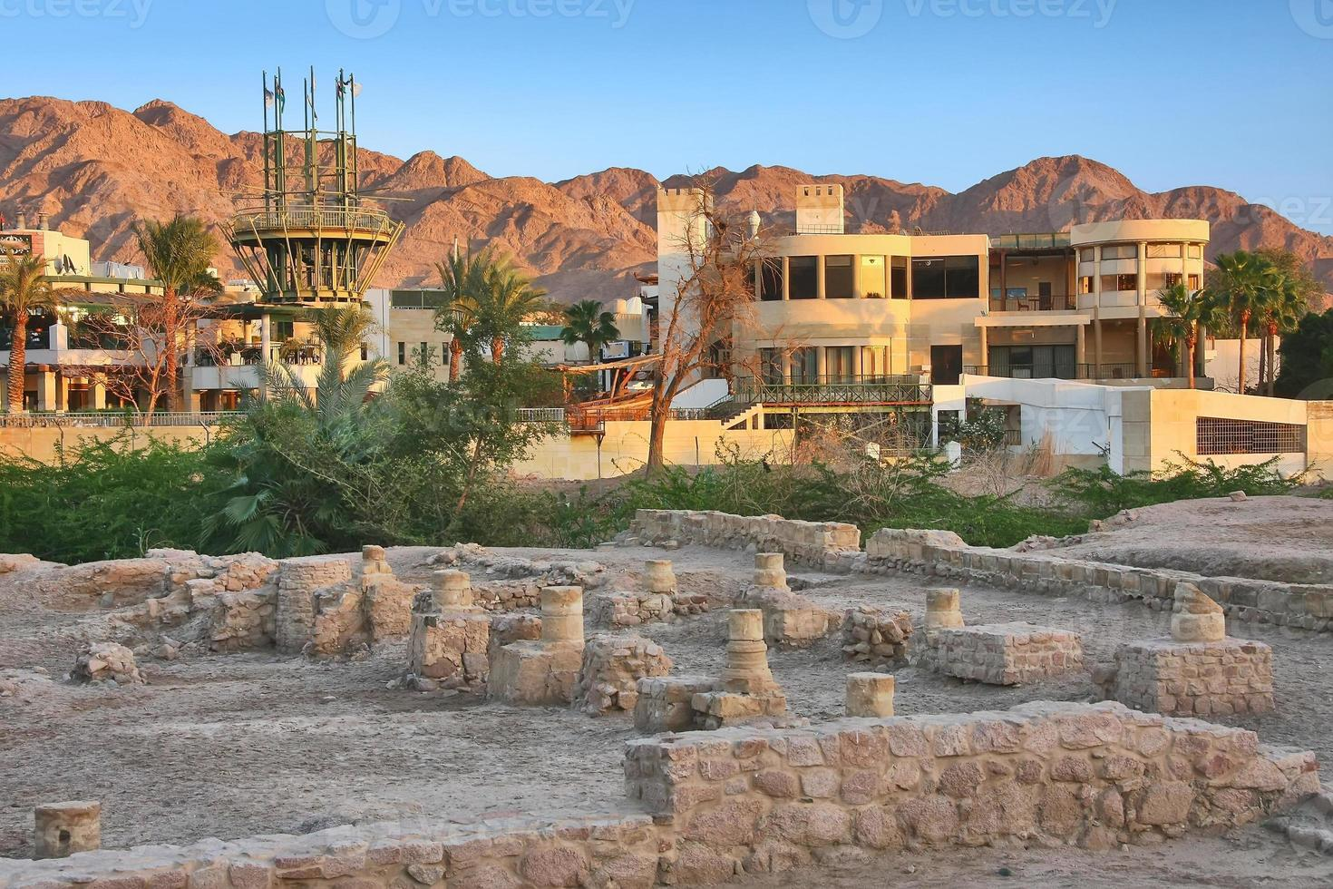 archäologische stätte ayla in aqaba, jordanien foto