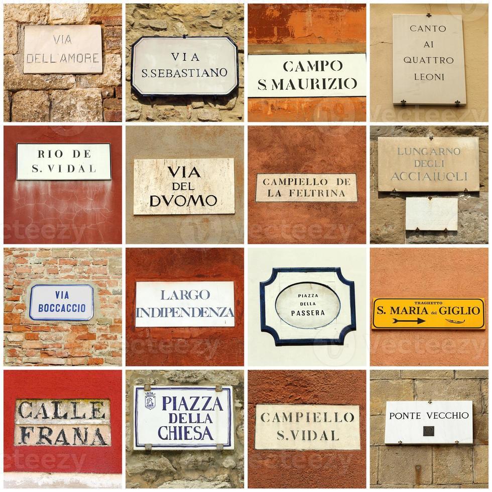 italienischer abstrakter Hintergrund foto