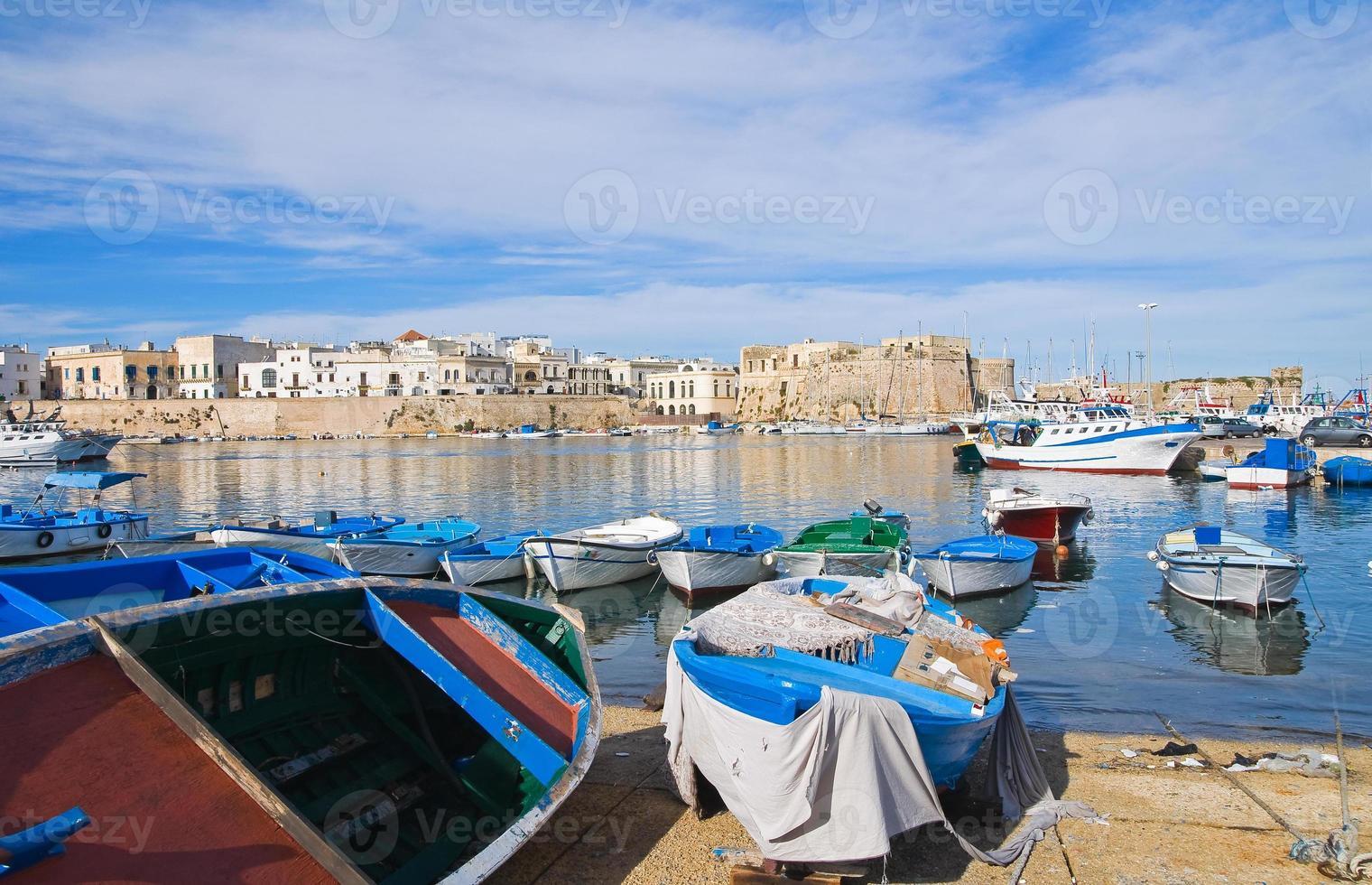 Panoramablick auf Gallipoli. Apulien. Italien. foto