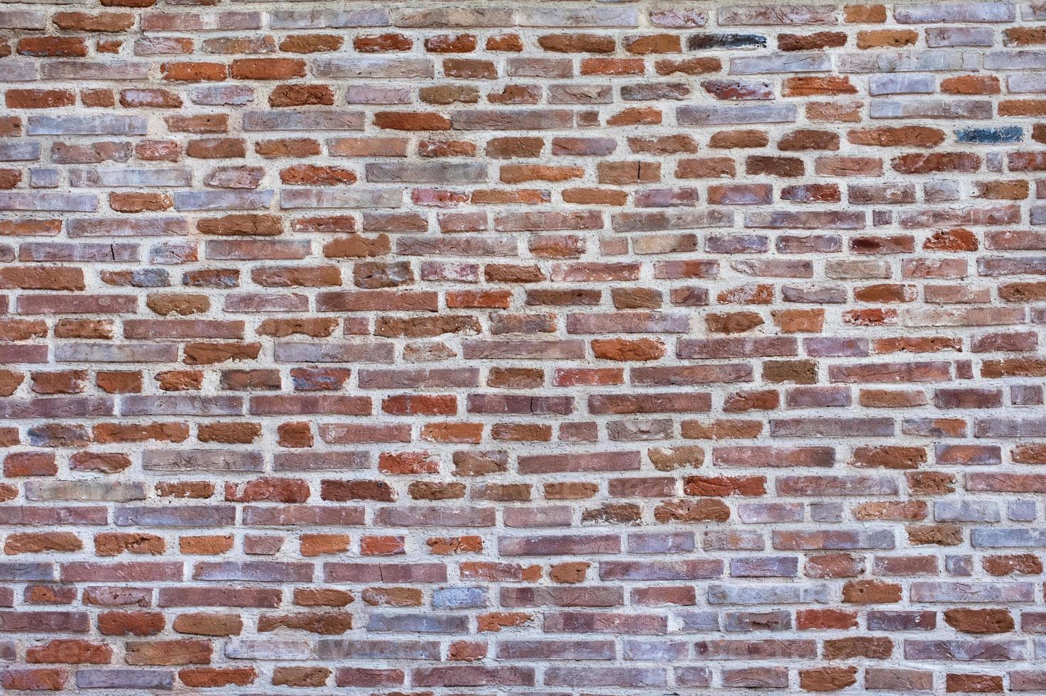 Backsteinmauer Hintergrund. foto