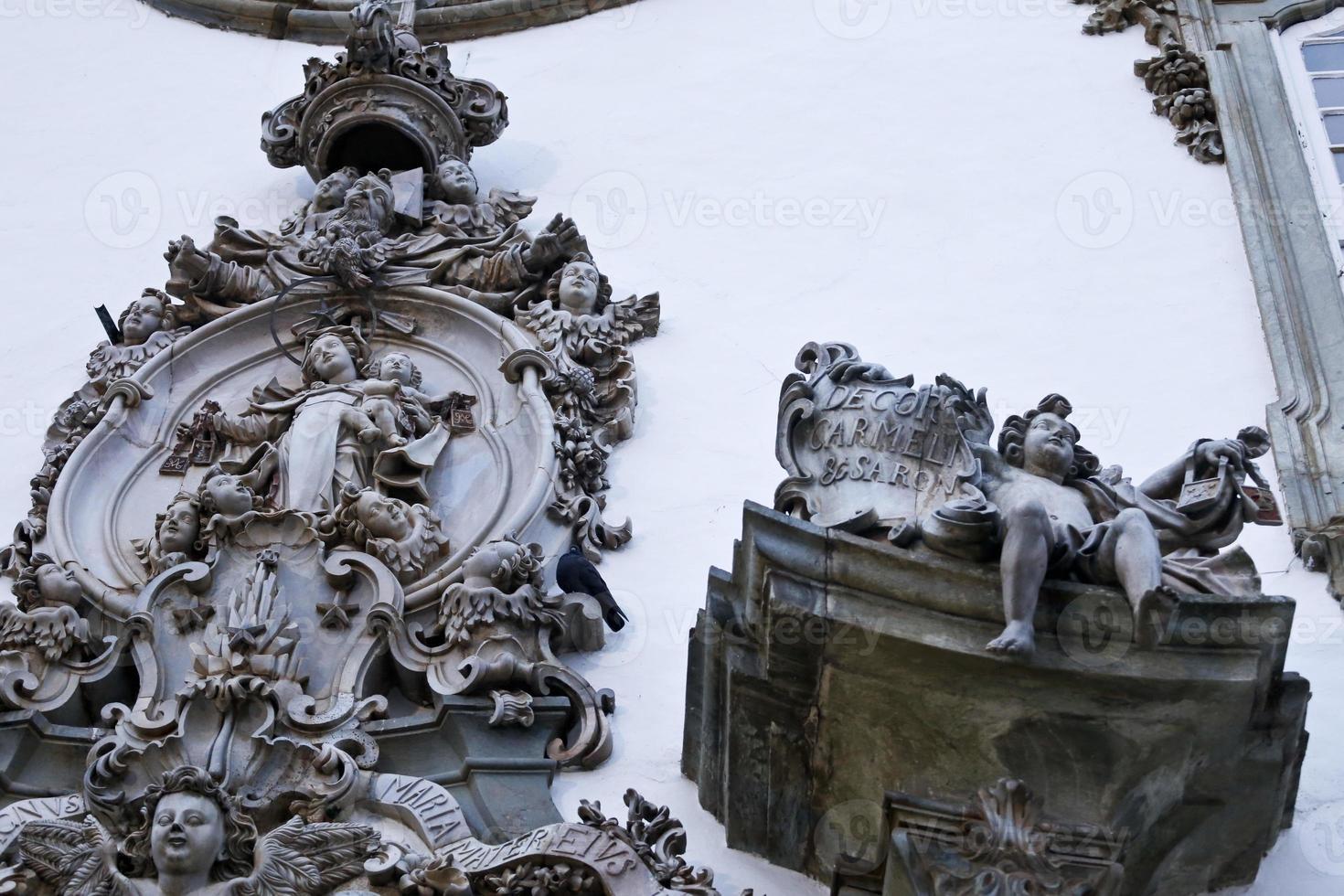 Detail vor der Kirche unserer Dame Mount Carmel foto