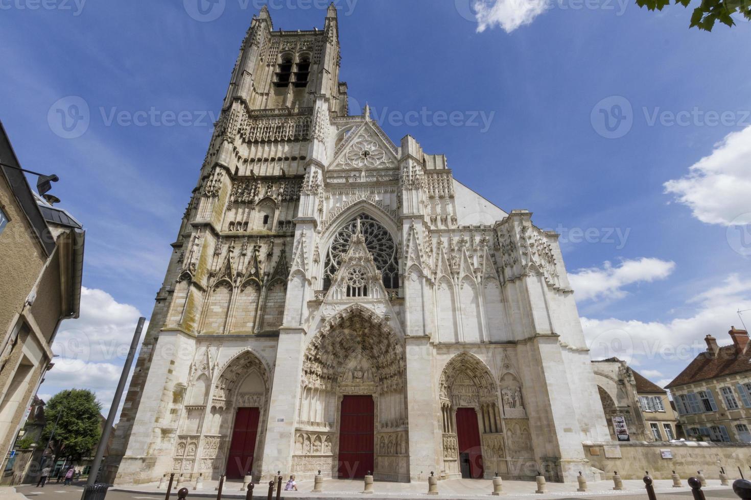 Kathedrale von st. etienne, auxerre, frankreich. foto