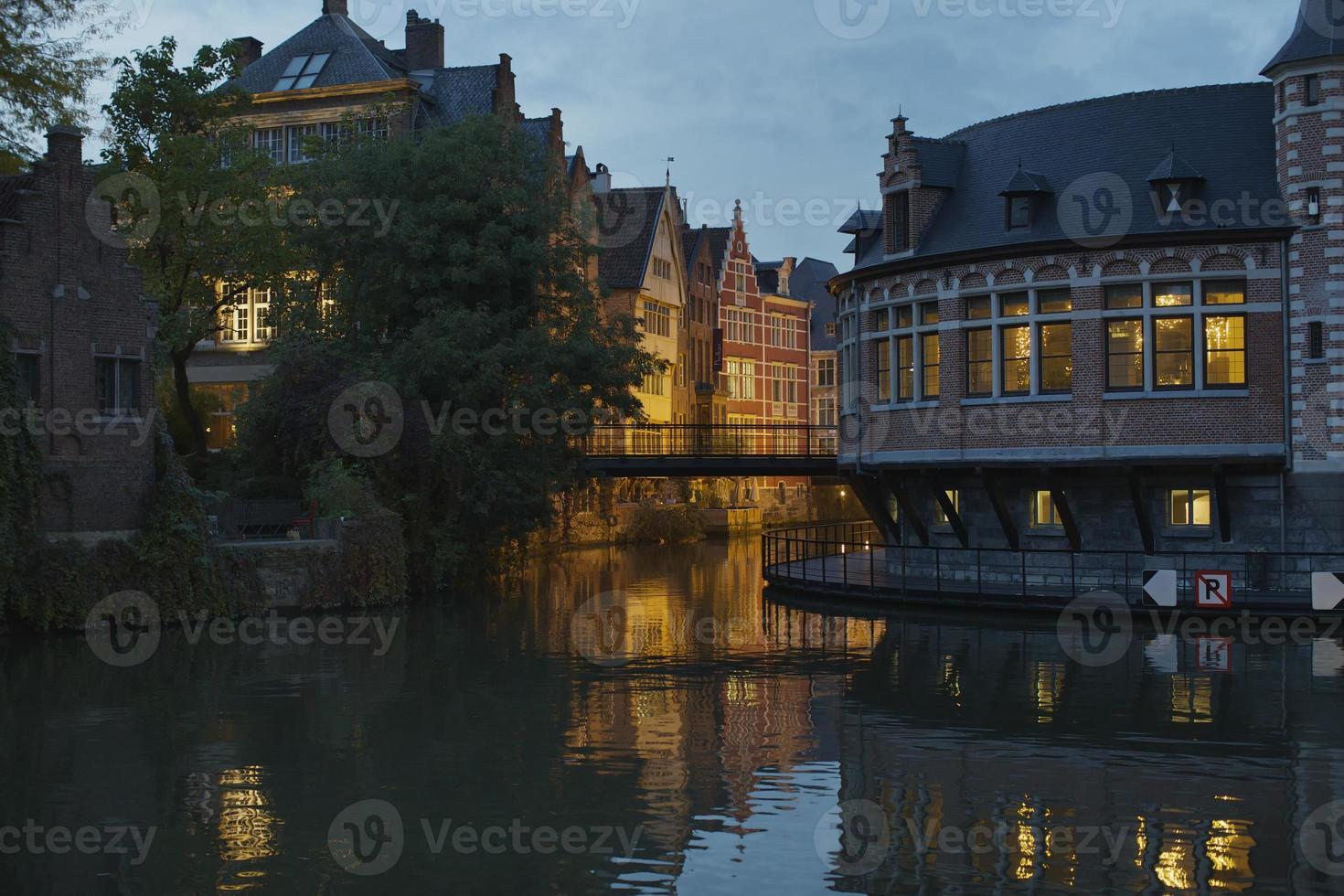Flusszentrum von Gent foto