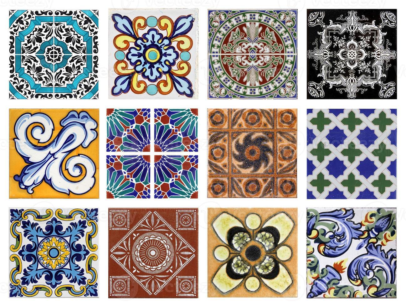 valencia azulejos verschiedene texturen foto