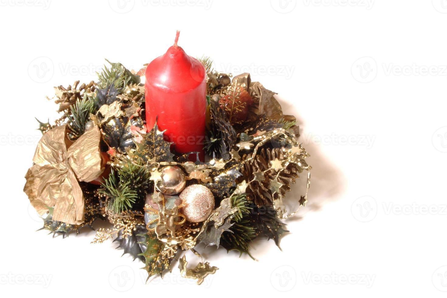 Kerzendekoration für Weihnachten foto