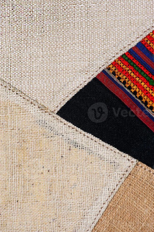 bunte thailändische peruanische Art Teppichoberfläche nah oben. foto