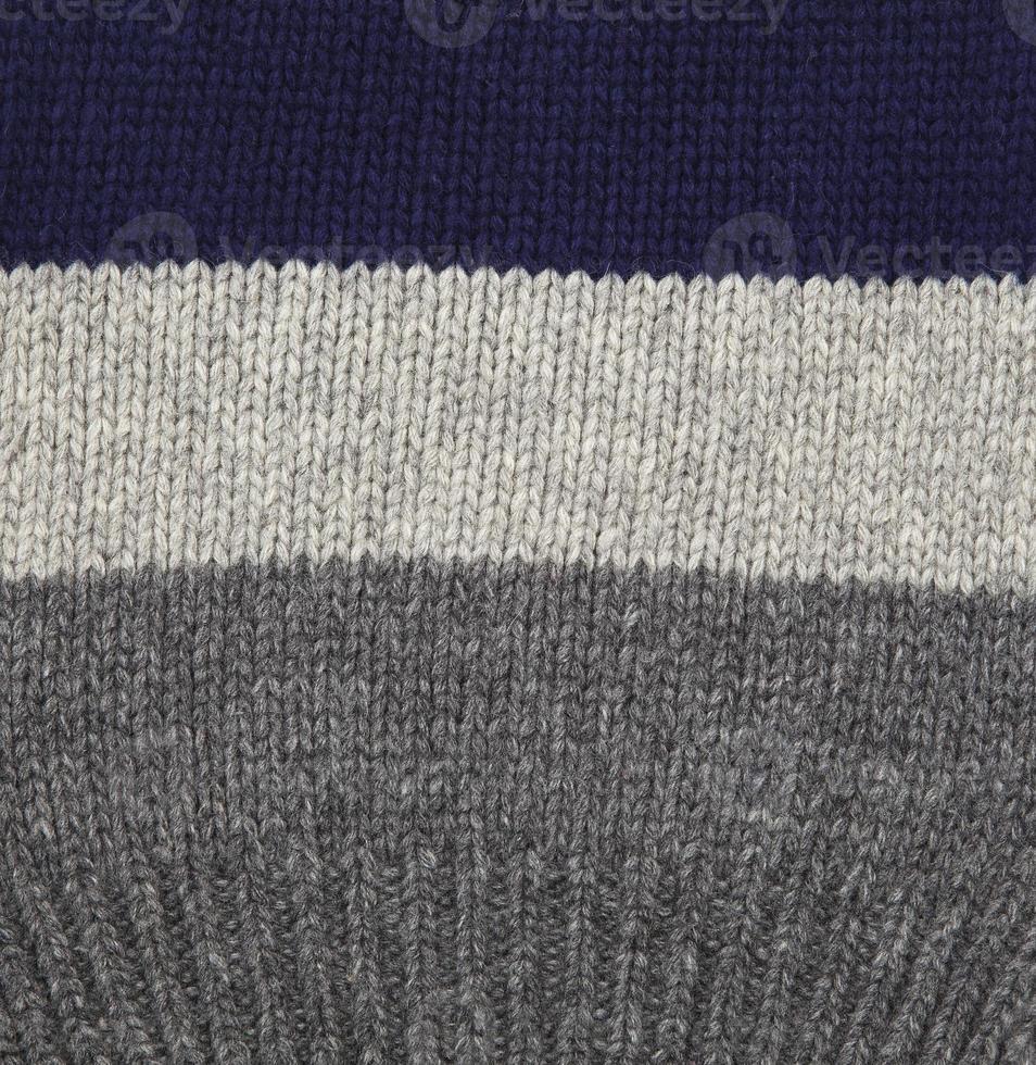 graue und blaue Wolle. foto