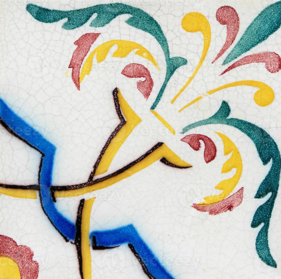 traditionelle portugiesisch glasierte Fliesen foto