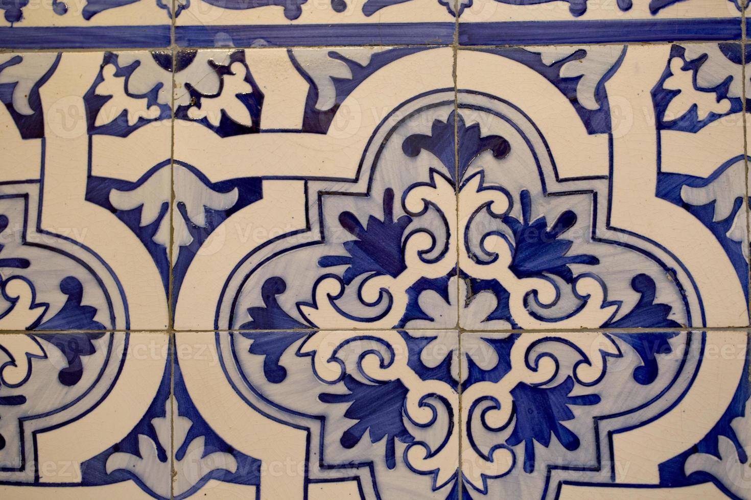 Detail der portugiesischen Fliesen foto