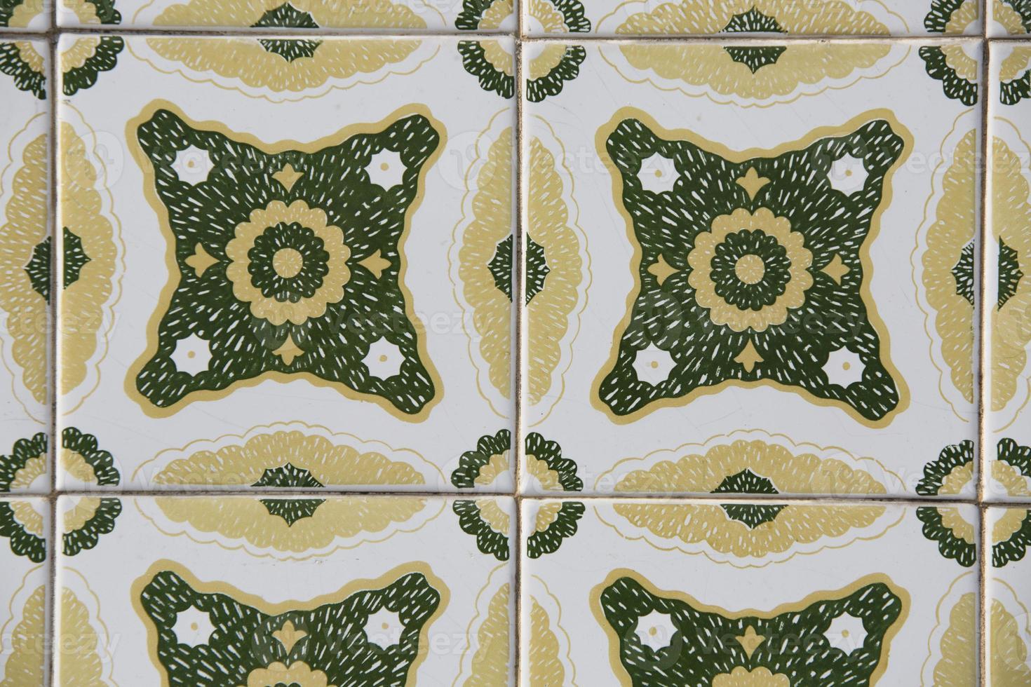 Detail der portugiesisch glasierten Fliesen. foto