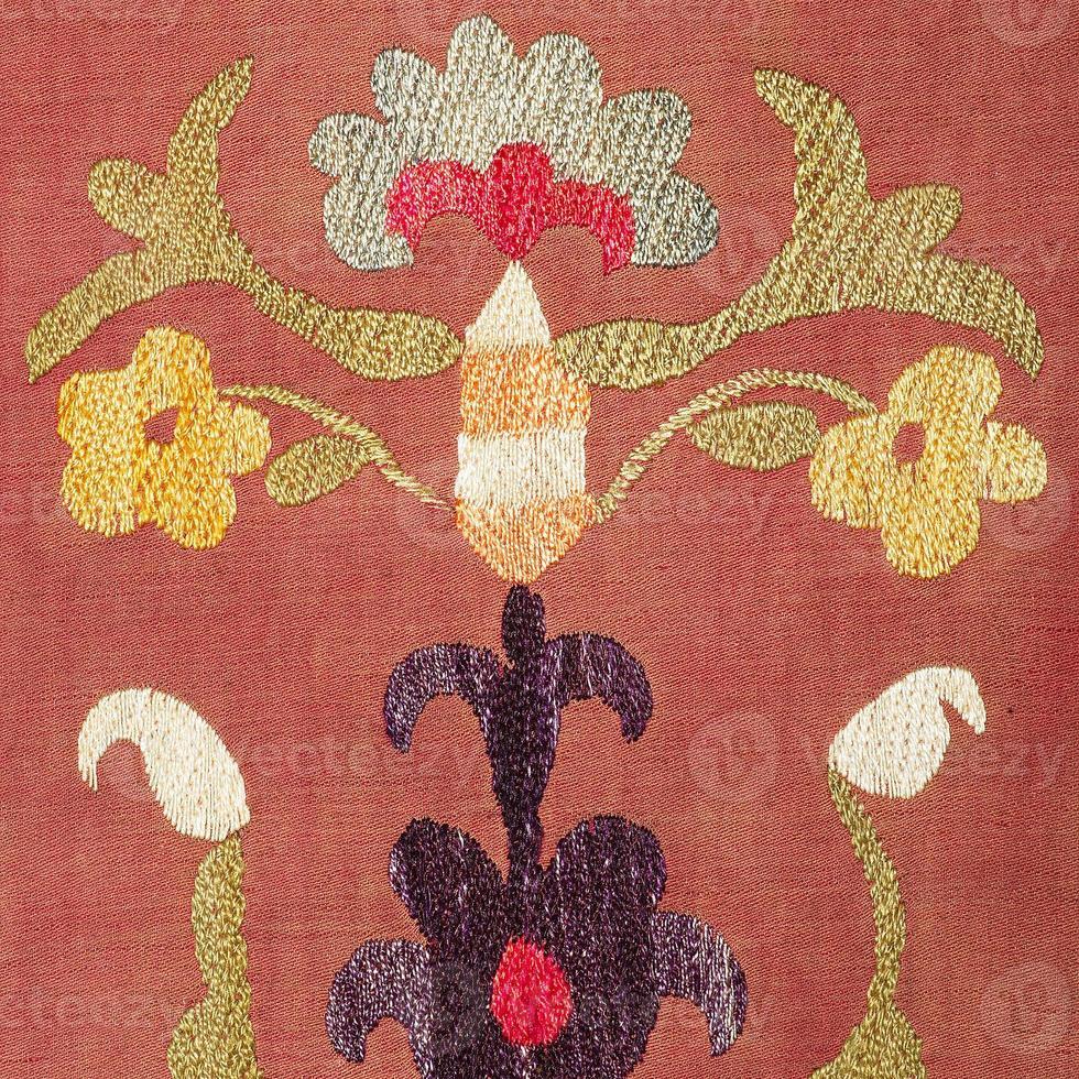 alter bunter arabischer Teppich Vintage foto