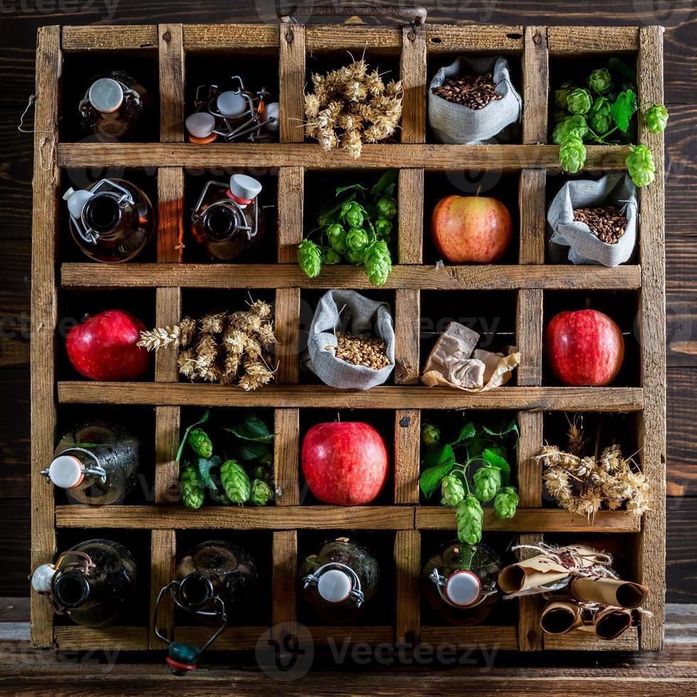 frische Apfelbier Zutaten foto