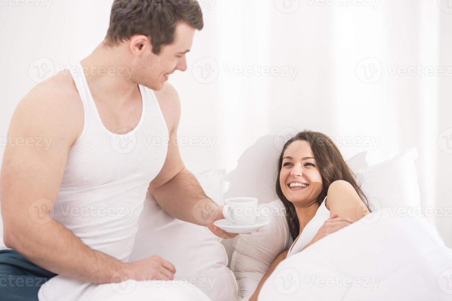 Frühstück im Bett foto