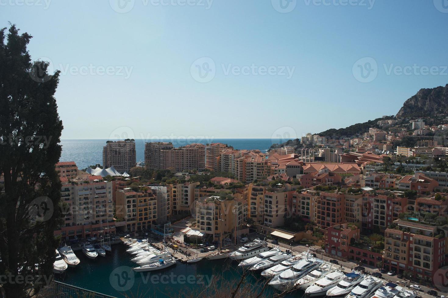 Boote in einer Monaco Bucht foto