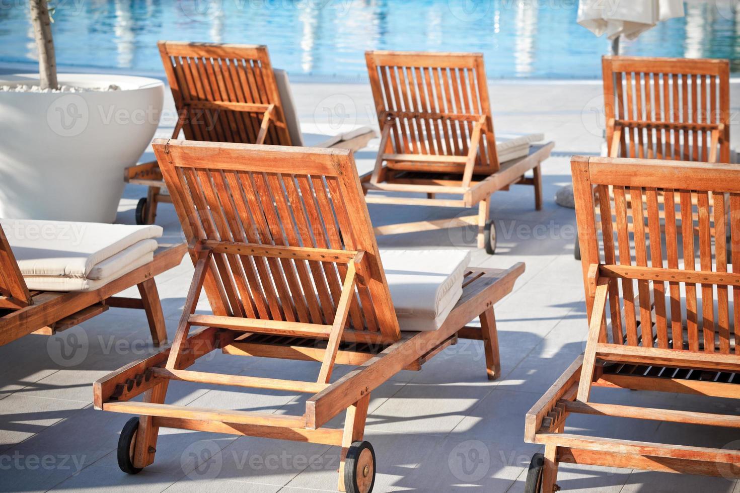 Hotel Poolstühle foto