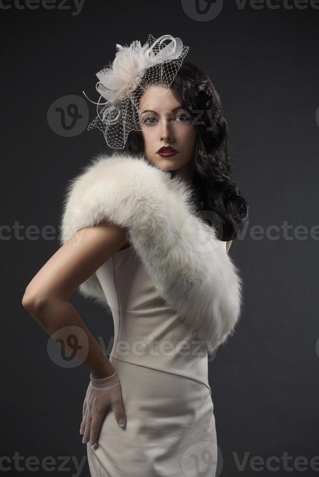 Retro Frauenporträt foto