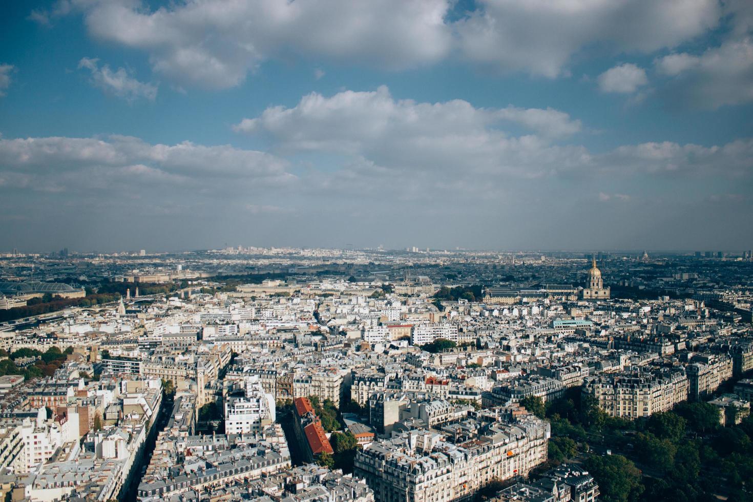 Luftaufnahme der Stadt Paris foto