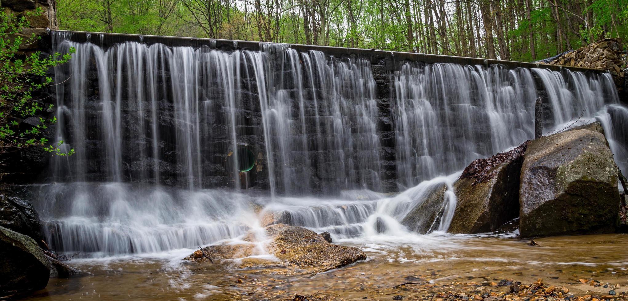 Wasserfall im Susquehanna State Park foto