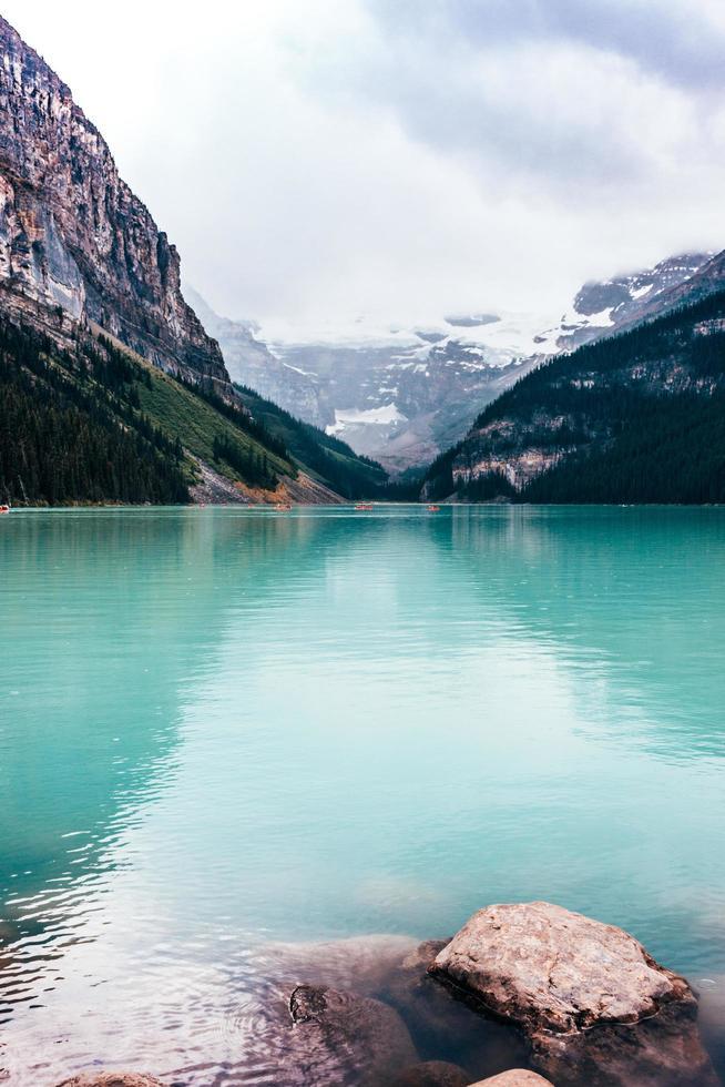 grüner Gletschersee foto