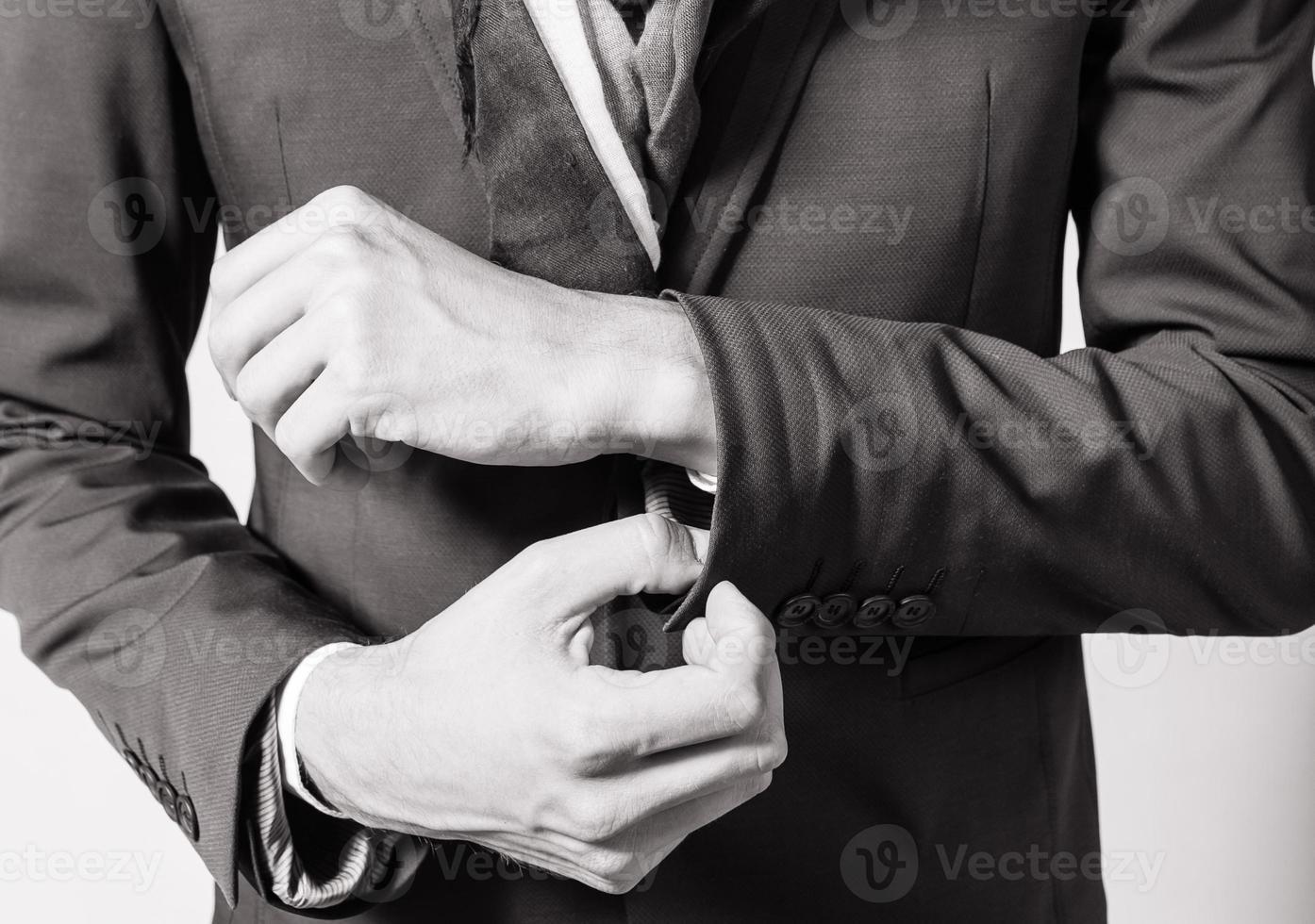 Mann im Anzug. foto