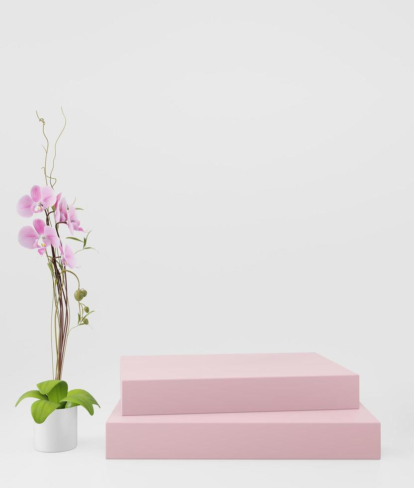 kosmetischer Hintergrund für die Produktpräsentation foto