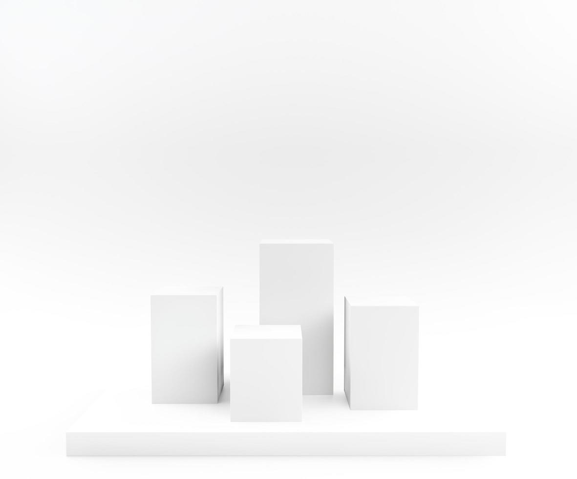weißer 3d rendern Hintergrund foto