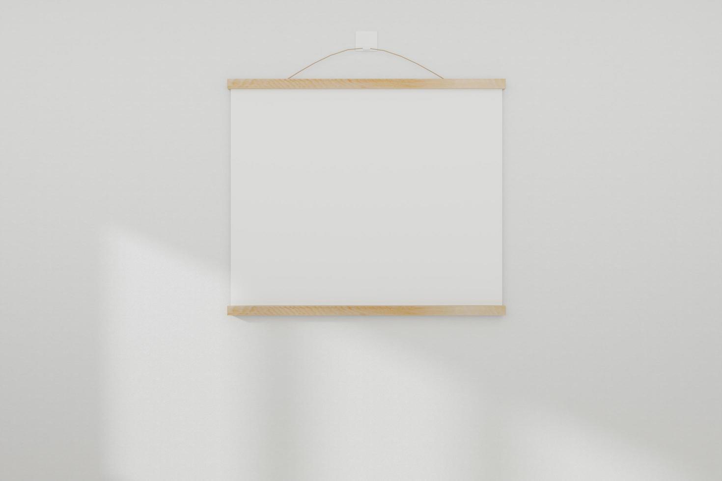 Bilderrahmenmodell auf weißer Wand foto