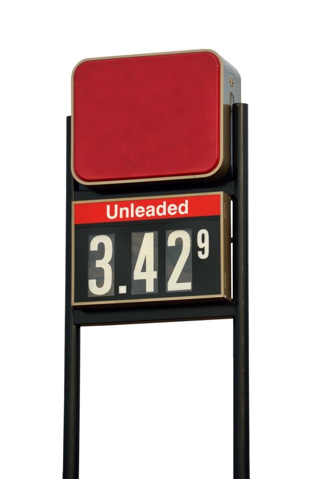 Gaspreiszeichen foto