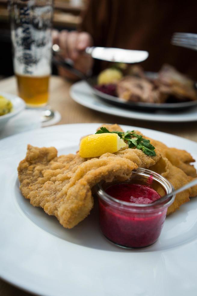traditionelles bayerisches Essen foto